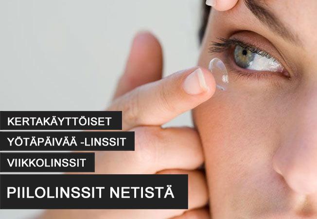 Säästä jopa 50% piilolinsseistä. Valitse merkeistä esim: Dailies, Acuvue tai Proclear