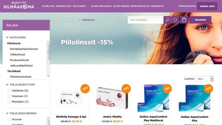 tulokas hyviä diilejä klassinen istuvuus Silmäasema tarjoukset • Piilolinssit netistä